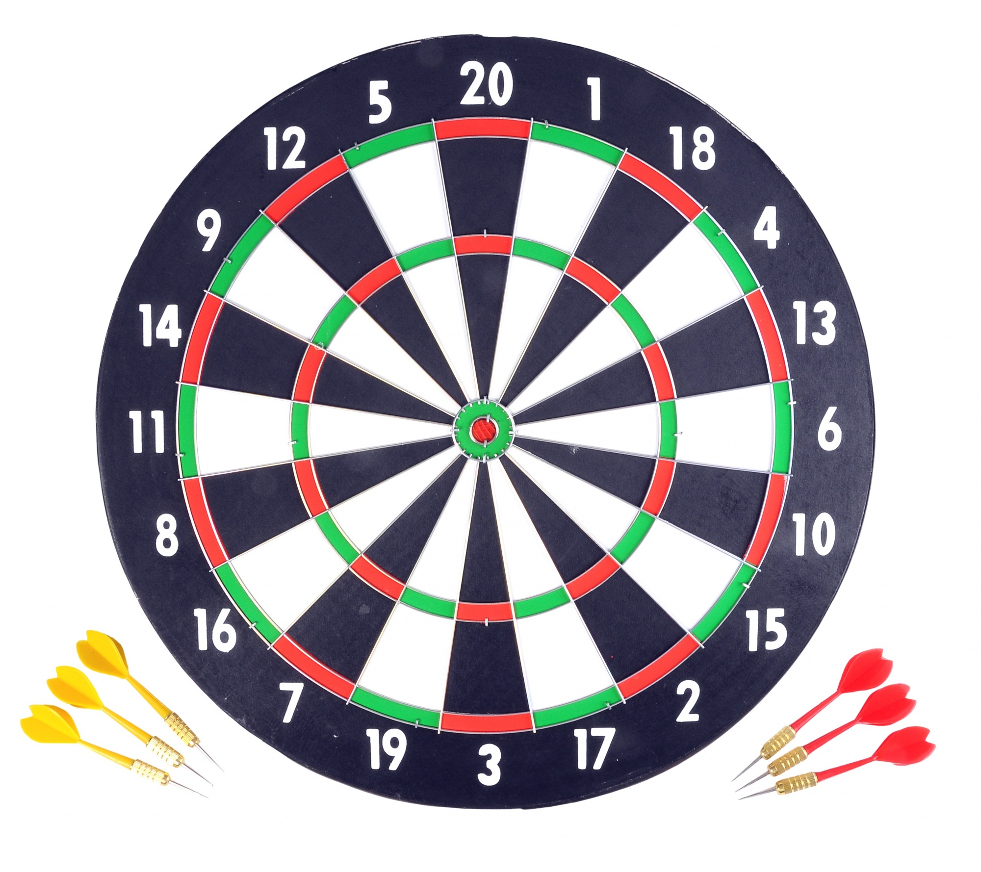 Dartbord 43cm + 6 darts in blister 06500