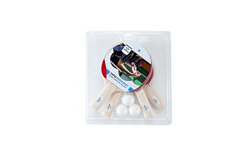 4 tafeltennisbats en 3 ballen 040209