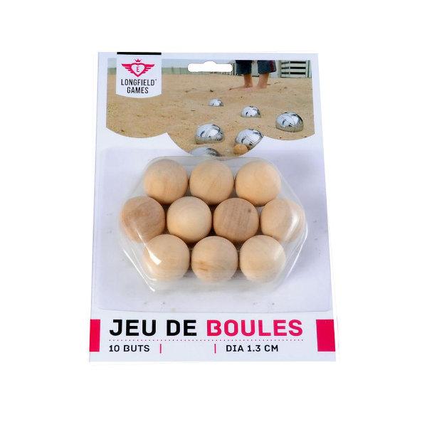 10 houten jeu de boules ballen 30 mm
