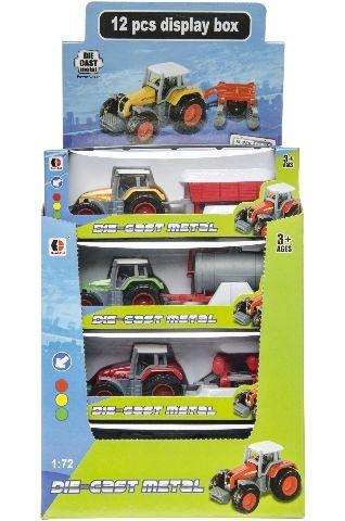 Tractor diecast met aanhanger 3137