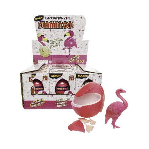 12 groeiende flamingo in ei in disp 9241