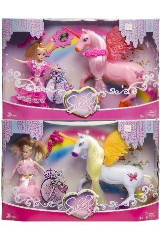 Unicorn met pop in doos 0324