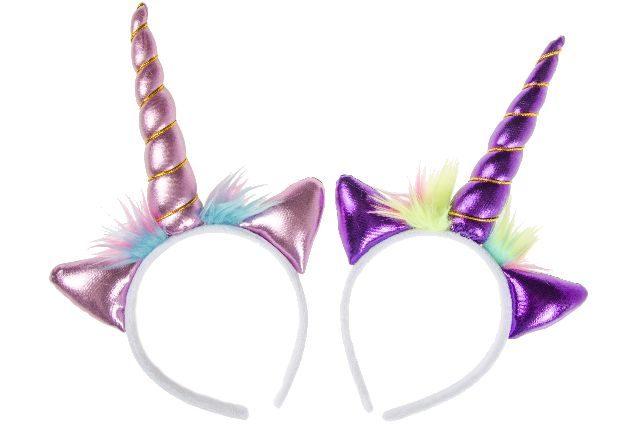 12 unicorn tiara 2 ass. 9703
