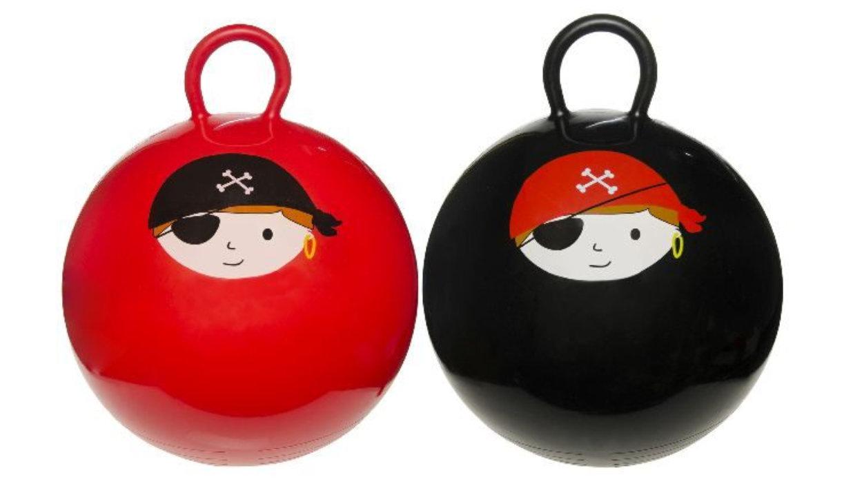 Skippybal 45cm Piraat in zak 2 ass. 4745