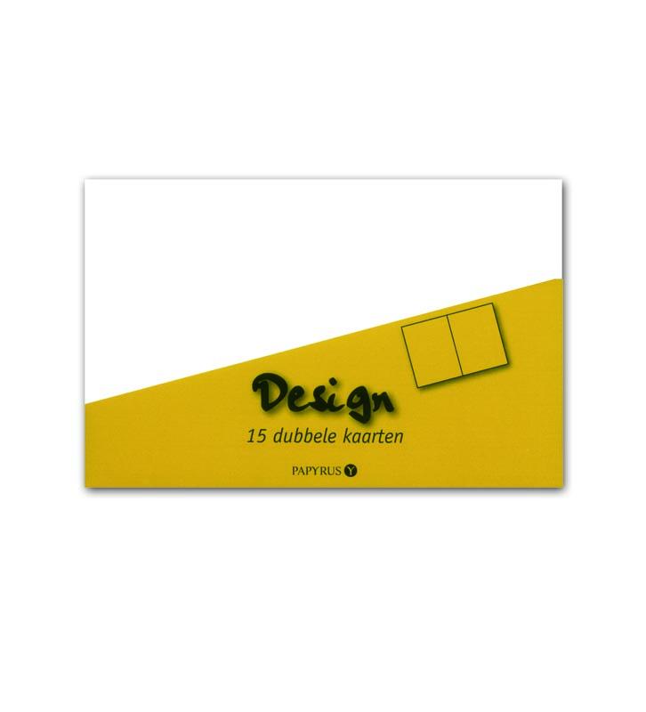 15 Dubbele kaarten 105x148mm wit