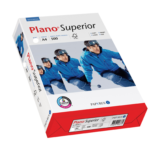 500 vel Plano Superior pap. wit A4 100gr