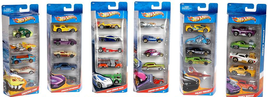 Hot Wheels 5 Car Giftpack 1806