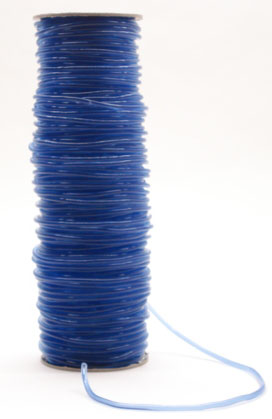 100 mtr. Springtouw blue transp. 4mm op