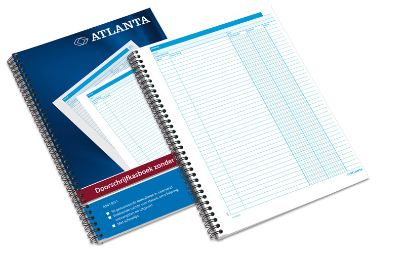 Atlanta doorschrijfkasboek incl. BTW kol