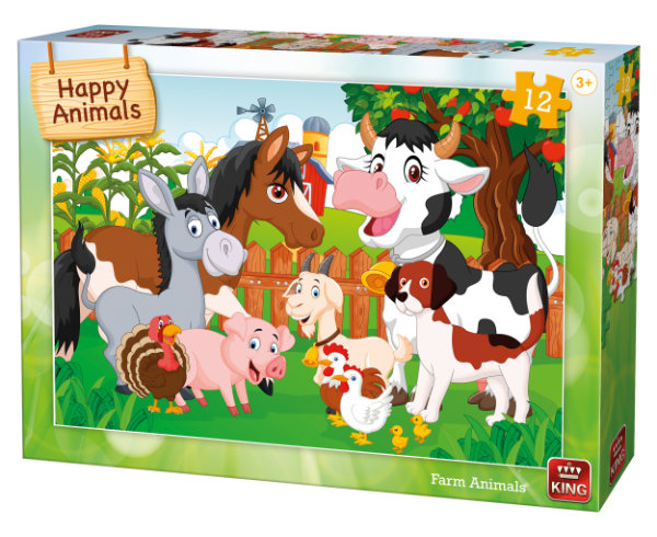 Puzzel 12 st. farm animals 05780
