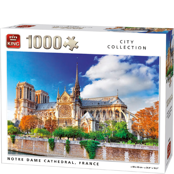 King puzzel 1000 st. Notre Dame 5660