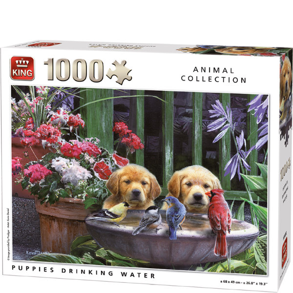 King puzzel 1000 st. Puppy's 5668