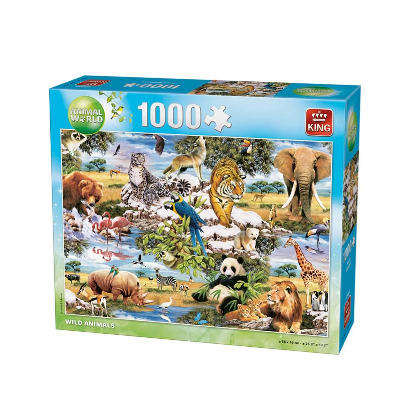 King Wild animals puzzel 1000 st. 05481
