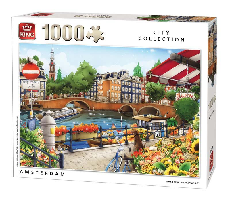 King Amsterdam puzzel 1000 st. 05363