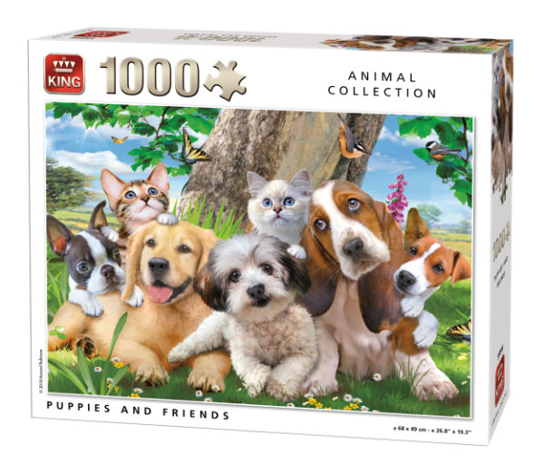 King puzzel 1000 st. puppies 55846