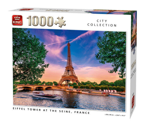 King puzzel 1000 st. Eiffel tower 55851