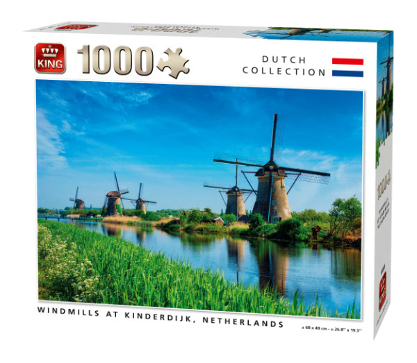 King puzzel 1000 st. windmills 55885
