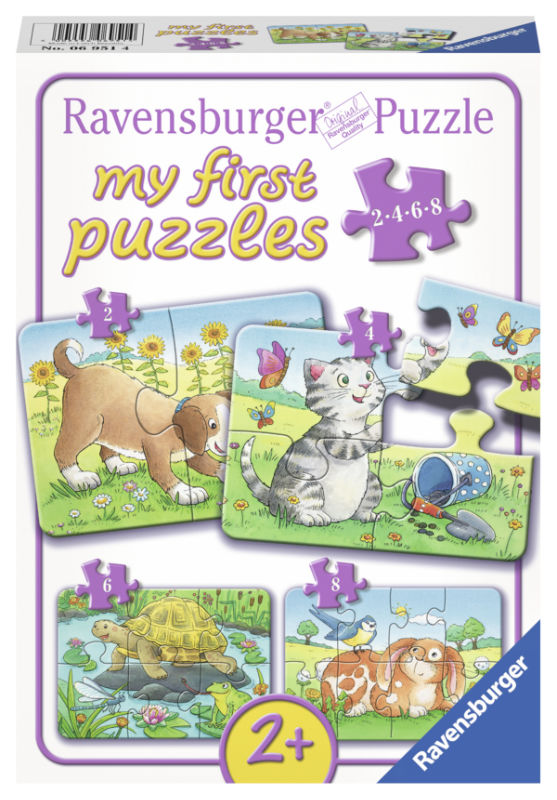 4 puzzels schattige huisdieren 069514