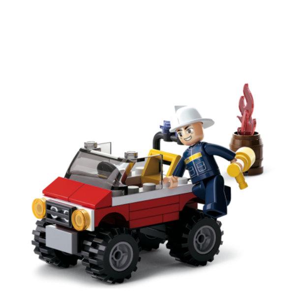 Sluban Fire brandweer jeep M38-B0621