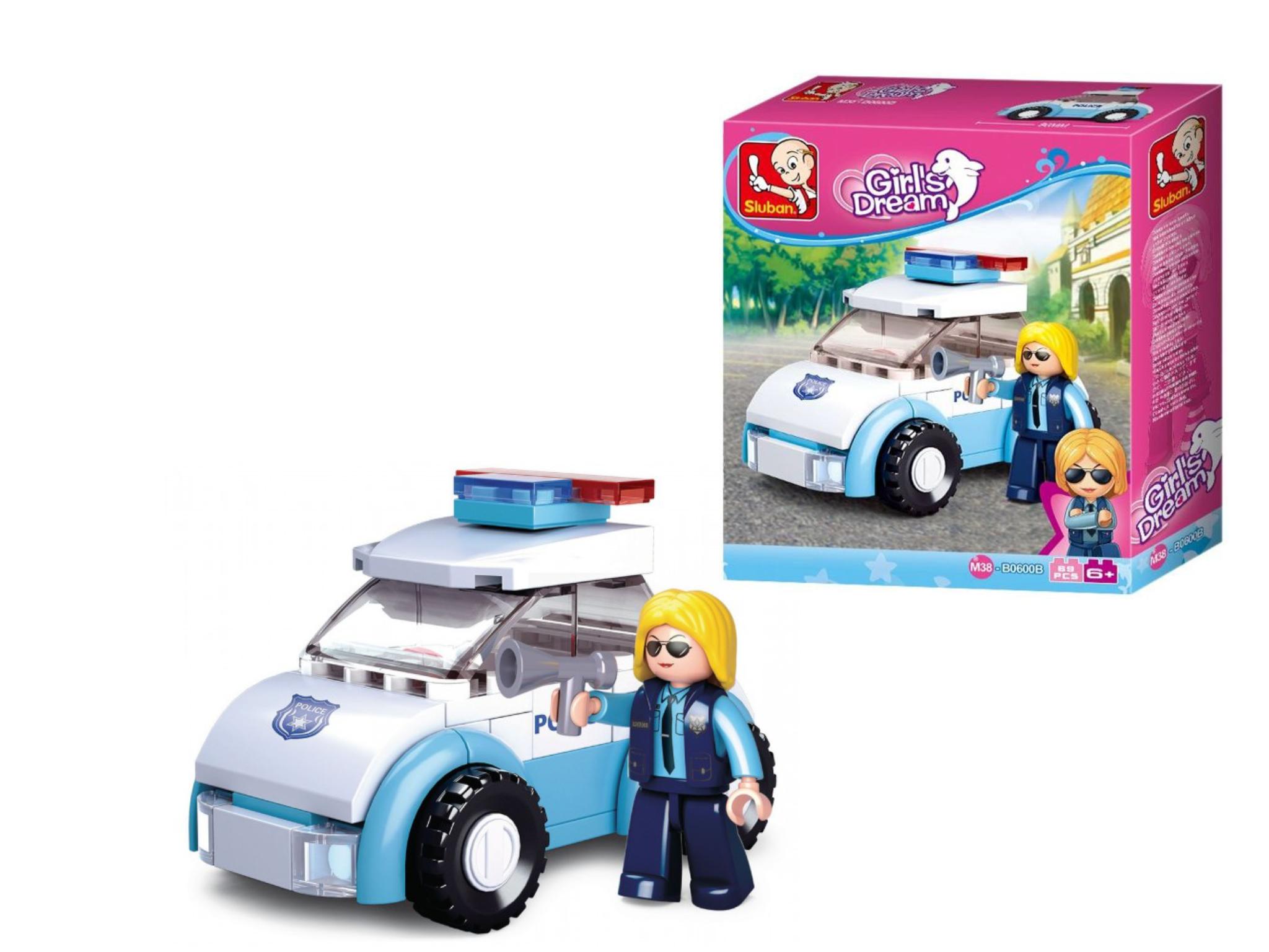 Sluban politieauto met agente M38-B0600B