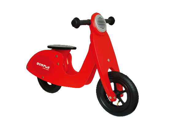 Loopscooter hout rood