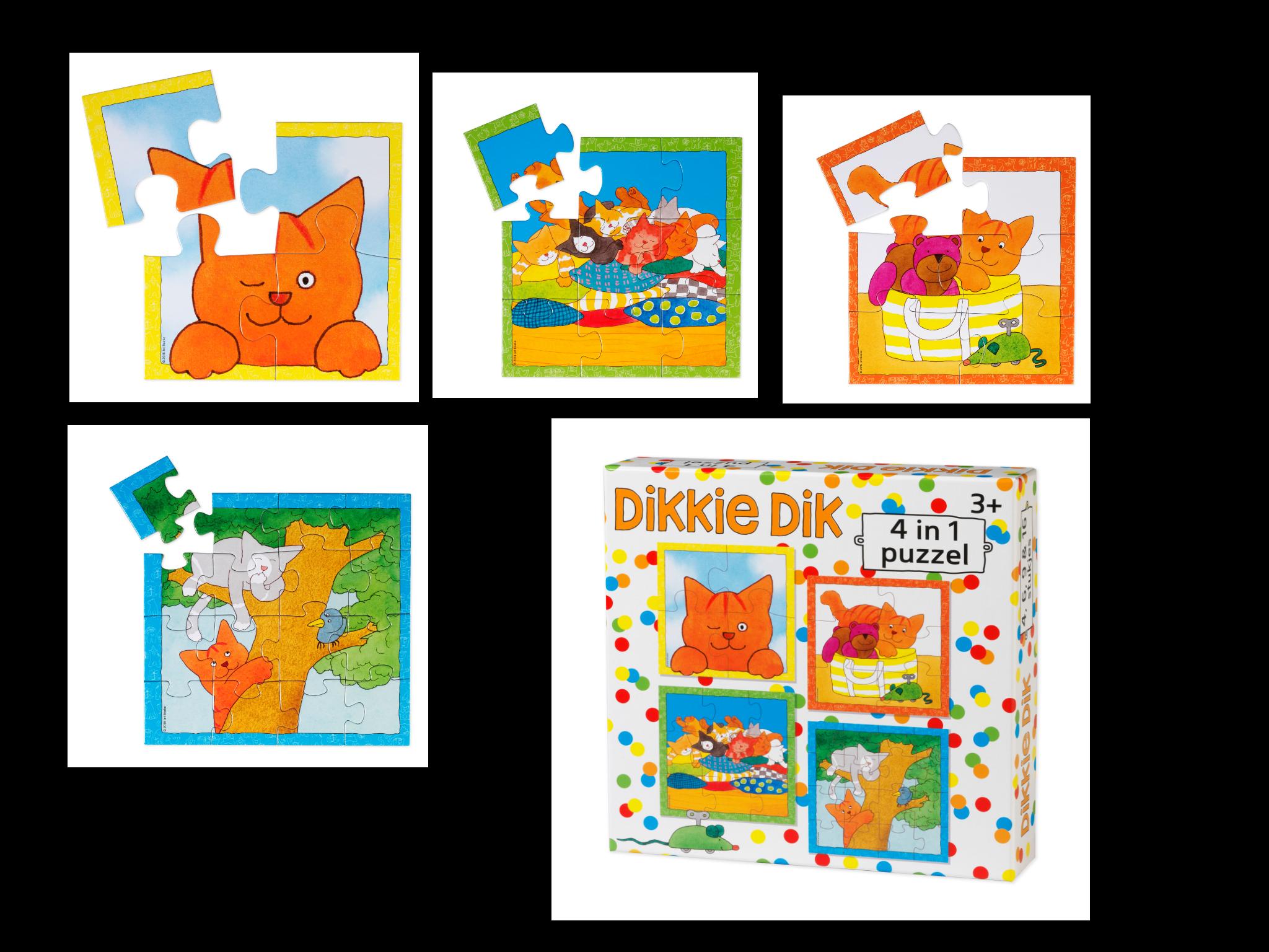 4 in 1 puzzel Dikkie Dik