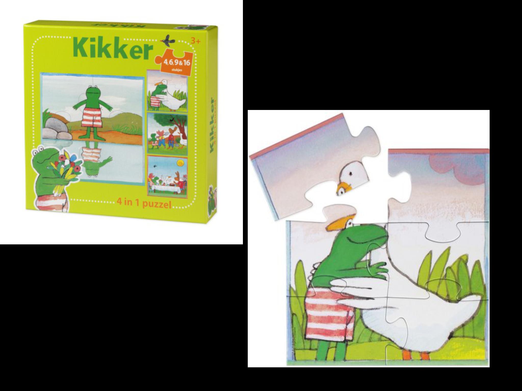 4 in 1 puzzel Kikker