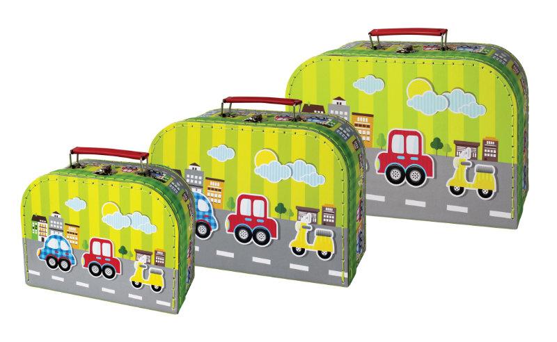3 koffers Vervoermiddelen 20610