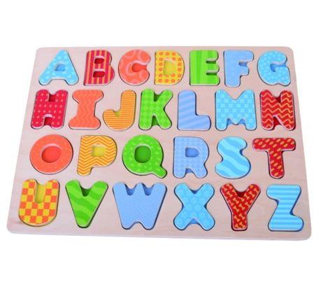 Alfabet puzzel hout 20x30cm 37673