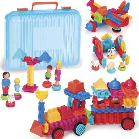 113 Bristle Blocks in koffer 3072Z
