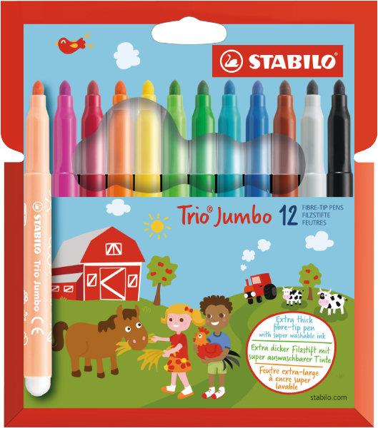 12 stabilo trio jumboXXL viltstift380/12