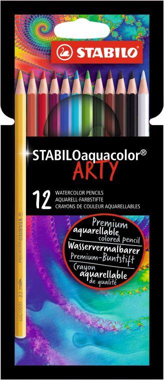 12 Stabilo ARTY aquacolor kleurpotloden