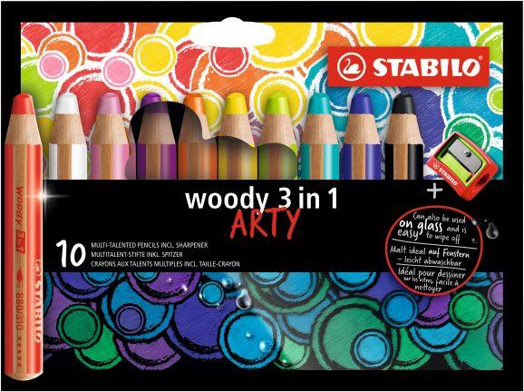 10 Stabilo ARTY woody 880/10-1-20