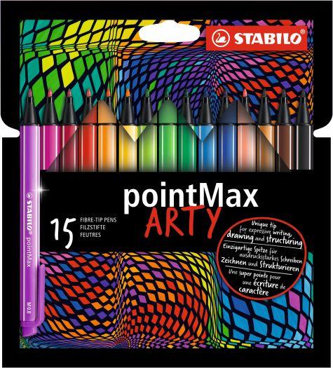 15 Stabilo ARTY pointmax fineliner
