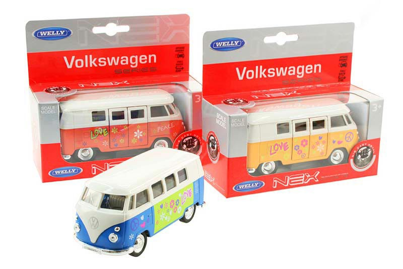 Welly Volkswagen bus (1962) met print