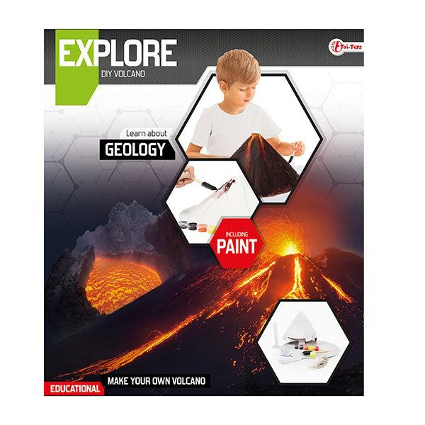 Explore wetenschap set-maak een vulkaan