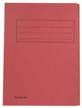 Dossiermap Foliokarton 300Gr rood 1072