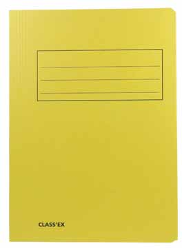 Dossiermap Foliokarton 300Gr geel 1074