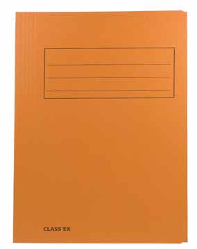 Dossiermap Foliokarton 300Gr oranje 1075