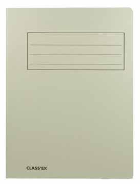 Dossiermap Foliokarton 300Gr grijs 1079