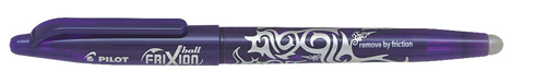 12 pilot frixion rollerball violet