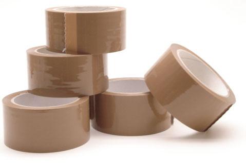 6 rol verpakkingstape bruin 66m*50mm low