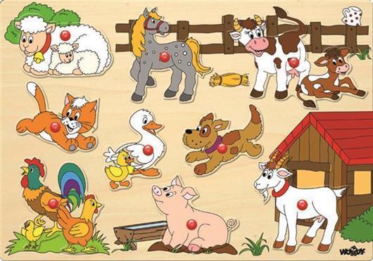 Woody inzet puzzel boerderijdieren 91905