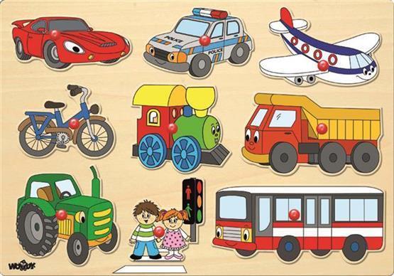Woody inzet puzzel transport 91906