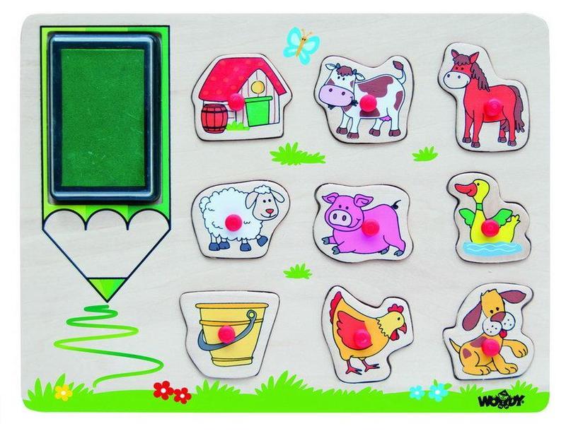 Woody boerderij stempel puzzel 91184