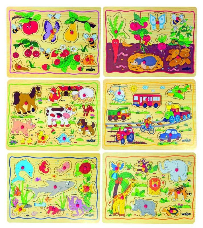 Woody inzet puzzel 6 assorti 90252