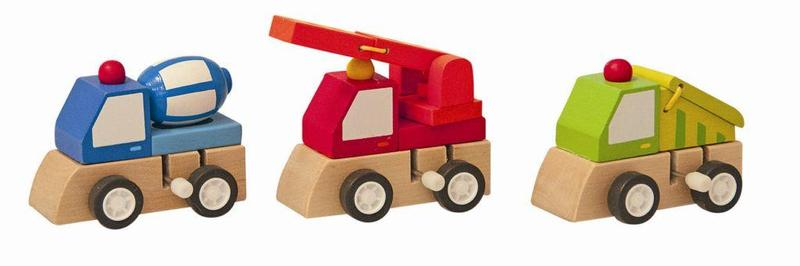 Woody 9 Houten bouwmachines 3 ass 90999