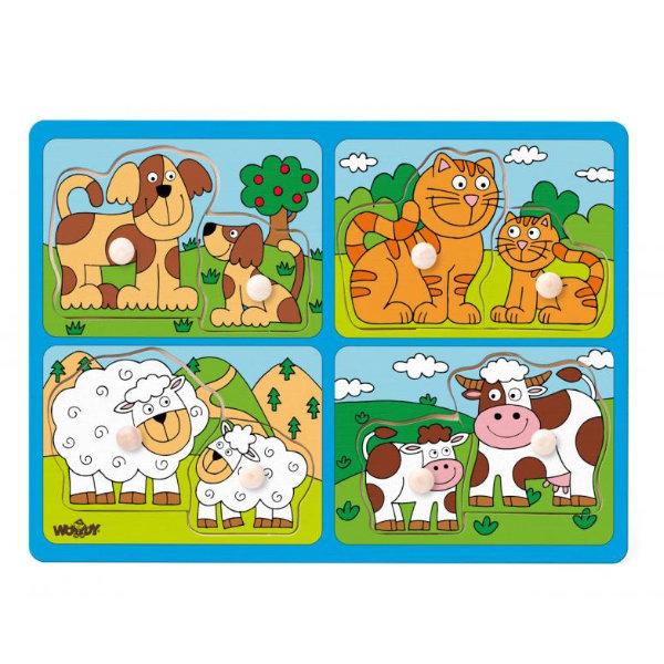 Woody 4 in 1 puzzel voor de kleinste 919
