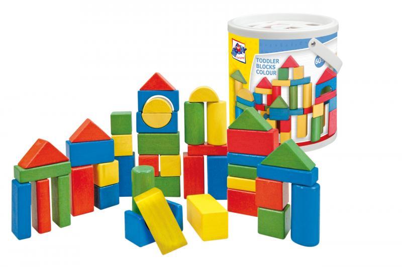 Houten 50 gekleurde blokken 90911