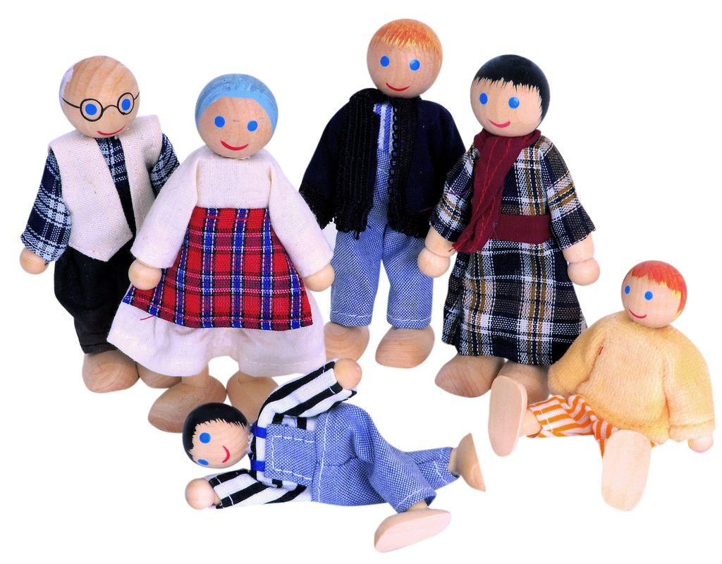 Woody 6 buigpoppetjes in doos 90620